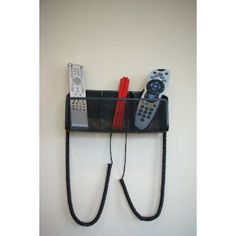 Brand New TV Remote Control Holder with one retaining curly cable: Amazon.co.uk: Kitchen & Home
