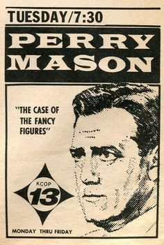 vintage  perry mason  tv guide