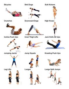Workout names and pictures for those of you who need references! #fitness #motivation #getfit