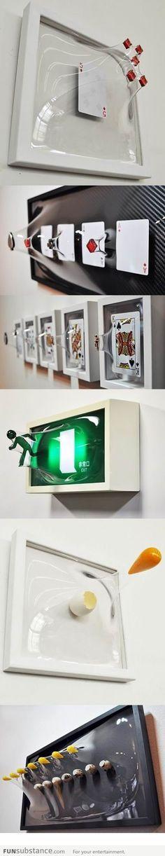 Arte 3D en vidrio