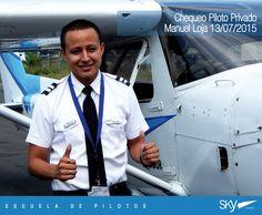 Felicitamos a nuestro Alumno Manuel Loja por haber realizado con éxito su chequeo de Piloto Privado exigido por la Dirección de Aviación Civil.    Quieres ser #piloto ? Pregúntanos como!  info@skyecuador.com 04 600 8250 o ( 0969063172 solo mensajes WhatsApp ) www.skyecuador.com