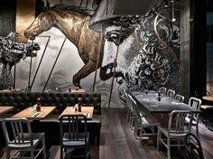 Interior of Beef&Liberty Hong Kong bar | Designcollector