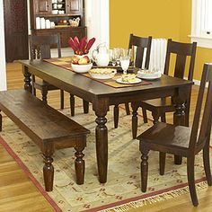 High Quality TRIBECCA HOME Mackenzie 5 Piece Country Black Dining Set By Tribecca Home | Dining  Sets And Cherry Finish