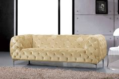 Looking for Meridian Furniture Mercer Modern/Contemporary Beige Velvet Sofa ? Check out our picks for the Meridian Furniture Mercer Modern/Contemporary Beige Velvet Sofa from the popular stores - all in one. Fabric Sofa, Furniture, Chesterfield Sofa, Meridian Furniture, Sofa Upholstery, Sofa Furniture, Beige Sofa, Usa Furniture, Living Room Furniture