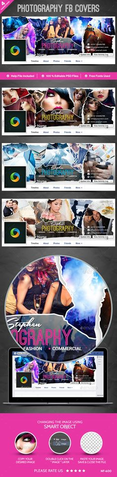 Photography Facebook Covers - 4 Designs Template #design Download: http://graphicriver.net/item/photography-facebook-covers-4-designs/12645117?ref=ksioks