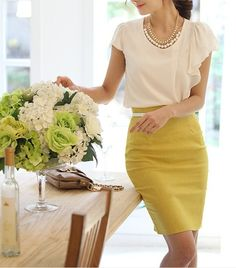 new style Empire Skirts pencil skirt Spandex Dress mix Outfit Work Fashion, Fashion Outfits, Skirt Fashion, Fasion, Fashion Ideas, Nail Fashion, Fashion Fabric, Fashion Styles, Spring Fashion