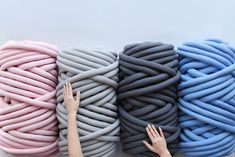 We've prepared a post detailing how much Ohhio Braid you're going to need to make the items in our shop, how much you need to cast on and to knit.