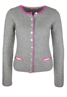 Made in Heaven - GERMAN JANKER - Strickjacke - grau-pink-rosa