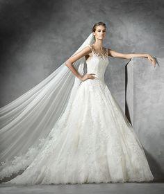 Presen, robe de mariée en dentelle, décolleté en cœur