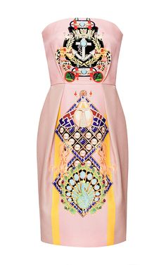 Olympia Printed Silk and Cotton-Blend Dress by Mary Katrantzou - Moda Operandi