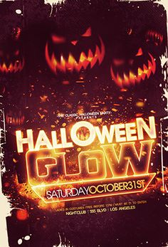 halloween flyer halloween party psd flyer templates flyer design neon cowls neon tetra