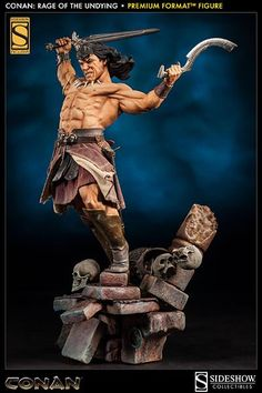 SIDESHOW COLLECTIBLES CONAN THE BARBARIAN RAGE OF THE UNDYING STATUE UNVEILED