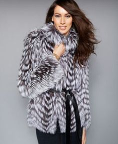 The Fur Vault Belted Fox-Fur Jacket | macys.com