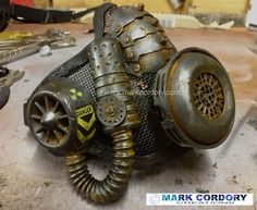 Fallout 'respirator' for an Airsoft LARP by Mark Cordory Creations