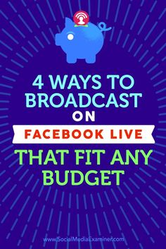 Do you want to broadcast Facebook Live video?  Regardless of budget, you can produce live videos that engage your audience and help you stand out from the competition.  In this article, you'll discover what you'll need to create your own Facebook Live broadcasts, ranging from free to professional options. Via /smexaminer/.