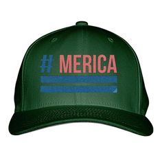 'Merica Embroidered Baseball Cap