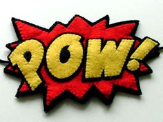 POW! comic style felt brooch, accessory