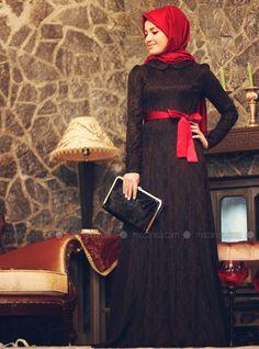 Zümra Abiye Elbise - Siyah - Minel Aşk