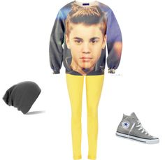 Justin Bieber Sweatshirt!, created by molly-barclay on Polyvore......I'm sorry but this is just creepy!