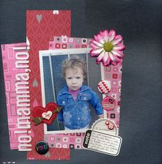 Scrapbooking layout by Francesca Menghi