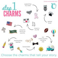 Step 1 - Add charms to tell your story!  *Designing your own living locket*