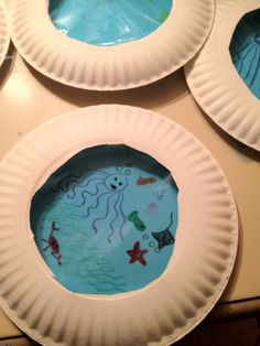 Under the Sea Crafts: Paper Plate Portholes Daycare Crafts, Classroom Crafts, Kids Crafts, Arts And Crafts, Under The Sea Crafts, Under The Sea Theme, Ocean Activities, Ocean Crafts, Summer Crafts For Kids