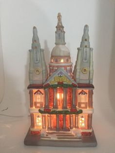St. Paul's Cathedral London England Lighted Holiday Christmas Village with Box