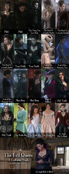 The evil queen once upon a time costumes. Will use one of these as a reference…