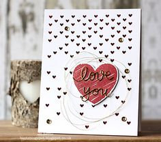 Such a Pretty card by Jo for the Simon Says stamp Wednesday challenge (Have a Heart)