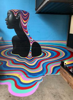 """""""Gina Kiel is an award winning artist based in Wellington, New Zealand whose work incorporates pop culture elements using flowing lines and bold, minimal compositions with a psychedelic palette Colossal Art, Pop Culture Art, Wow Art, Arte Popular, Monochrom, Smileys, Mural Art, Street Art Graffiti, Cultura Pop"""