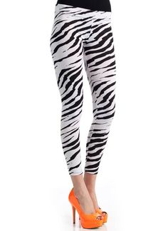 zebra print leggings $11.00 in ZEBRA - Long Pants | GoJane.com