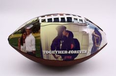 Customized football, perfect gift for Valentine's Day, anniversary or birthday. Impress your boyfriend, girlfriend, husband or wife or any of your loved ones with Make A Ball.