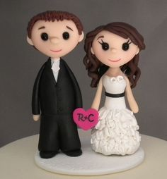 Cake Toppers  Wedding Cake Topper  Teeny by CakeToppersStudio, $99.00