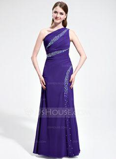 Evening Dresses - $138.99 - A-Line/Princess One-Shoulder Floor-Length Chiffon Evening Dress With Ruffle Beading (017019758) http://jjshouse.com/A-Line-Princess-One-Shoulder-Floor-Length-Chiffon-Evening-Dress-With-Ruffle-Beading-017019758-g19758?ver=xdegc7h0