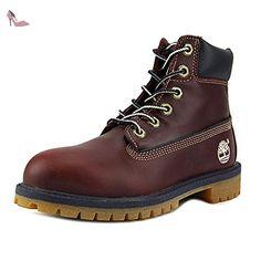 "Timberland 6"" Basic Waterproof Jeunesse US 4 Rouge Botte - Chaussures timberland (*Partner-Link)"