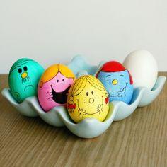 15 Super Cute Easter Egg Decorating Ideas For Kids - Easter Photos Egg Crafts, Easter Crafts, Crafts For Kids, Emoji Easter Eggs, Ostern Party, Mr Men Little Miss, Monsieur Madame, Easter Egg Designs, Coloring Easter Eggs
