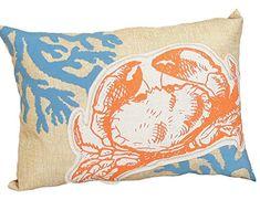 Xia Home Fashions Applique Crab with Print Coral Coastal Poly Filled Decorative Pillow, 13 by 18-Inch, Sea Shell Xia Home Fashions http://www.amazon.com/dp/B00TZEZ19C/ref=cm_sw_r_pi_dp_sTZ5vb0WPHC78