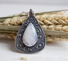 Moonstone pendant boho silver pendant Ethnic jewelry boho