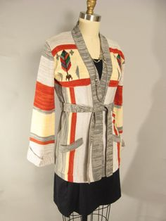 Vintage 70s Ethnic Southwestern Bell Sleeve by FashionHouseVintage, $74.00