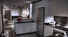 Kitchen of a small 2 bed-room apartment in Singapore by IDISID www.IDISID-Interiors.com #HDB #IDISID #Singapore