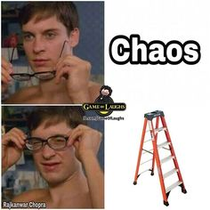 """Game of Thrones """"Chaos is a laddah!"""" . . . . Only got fans will understand #gameofthrones #gameofthronesmemes #asongoficeandfire"""