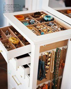 jewelry armoire via Lonny