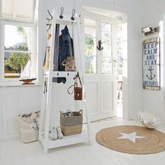 Nautical Home - Blue and White Entryway