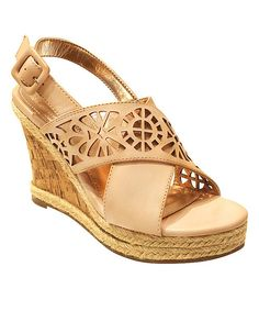 Look at this Blush Kate Wedge Sandal on #zulily today!