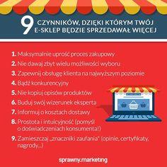 Prowadzicie #esklep? Sprawdź jakie czynniki wpływają na zwiększenie sprzedaży!  Jeśli chcesz dowiedzieć się więcej, zapisz się na nasz #szkolenie: Sukces w e-handlubit.ly/ehandel-szkol