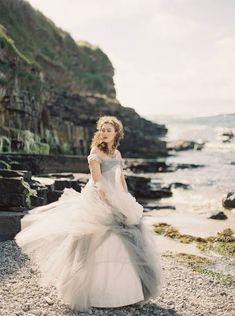 Moody Grey Wedding Inspiration on the Irish Coast via Magnolia Rouge