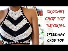 Tutorial from Start to Finish Crochet Speedway Crop Top Pattern. Tutorial from Start to Finish Bikinis Crochet, Crochet Halter Tops, Crochet Crop Top, Crochet Blouse, Crochet Lace, Free Crochet, Cropped Tops, Top Tejidos A Crochet, Diy Crop Top