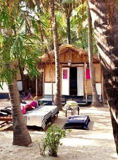 A casa de Jade em Goa, na Índia, possui bangalôs com decoração local para abrigar os amigos Foto: Divulgação