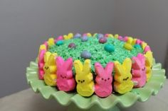 Easter Cake with Peeps!