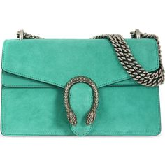 GUCCI Dionysis suede shoulder bag ($1,740) ❤ liked on Polyvore featuring bags, handbags, shoulder bags, gucci, chain strap purse, shoulder bag tote, tote handbags, gucci shoulder bag and green tote